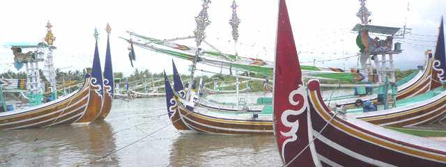 バリ島の船