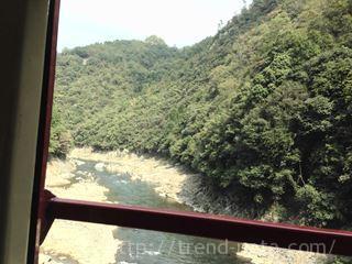トロッコ列車の車中からの景色