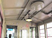 トロッコ列車の天井