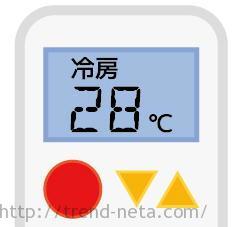 エアコンの設定温度は28度