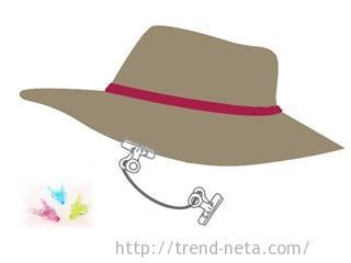 帽子とクリップ