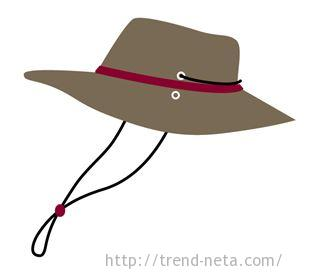 紐付き帽子