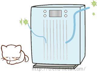 猫と空気清浄機