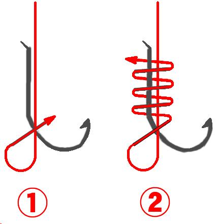 釣り針の結び方