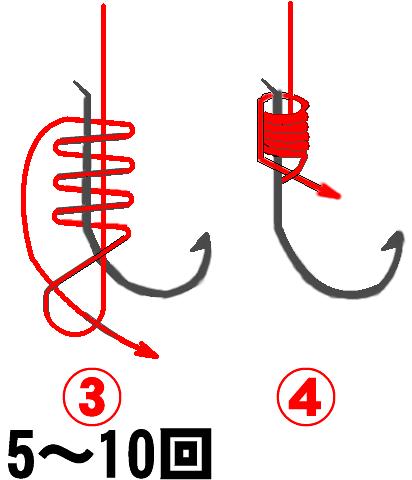 釣り針の結び方その2