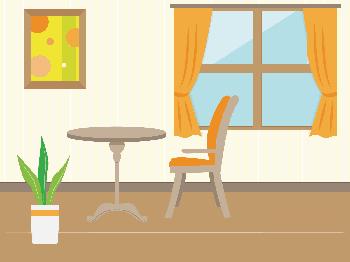 室内と窓ガラス