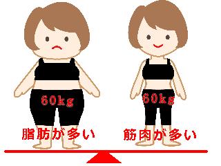 同じ体重の体型