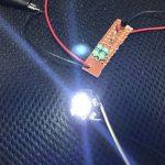 昇圧回路で光っているパワーLED