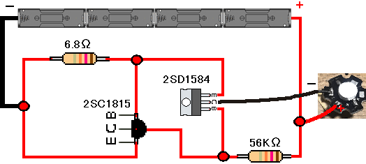 2SD1584-2SC1815で定電流回路
