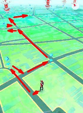 ポケモンgoの最適なルート