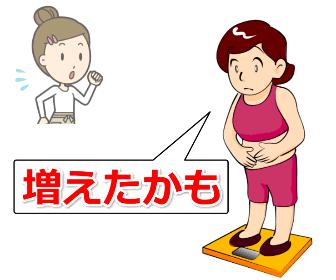 体重計とメタボの女性