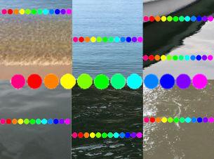 実際の海の色