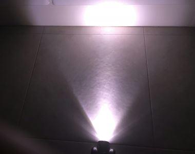 ダイソーのLEDヘッドライトの明るさ