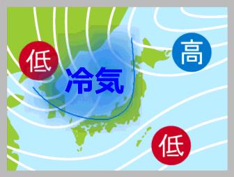 冷気と天気図