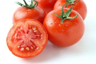 トマトのゼリーと種