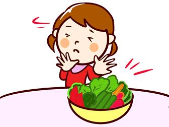 野菜嫌いの少女