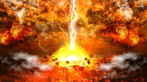 隕石が大爆発