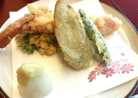 にっぽん丸のディナー天ぷら