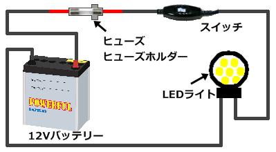 自作投光器の回路図