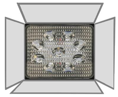 LEDに鏡を取り付ける