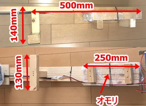 自作の投光器の寸法