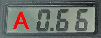 電流0.66A