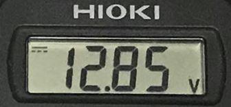 電圧 12.85V