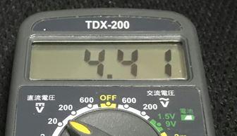 電圧4.41V