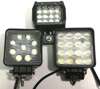 LEDライトの本体サイズの比較