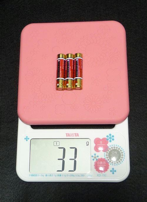 単4乾電池 33g